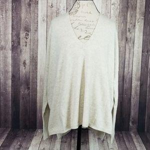 Vince wool & cashmere v-neck oversized sweater